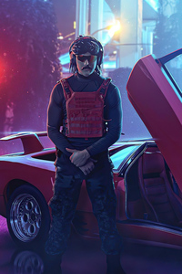 480x854 Dr Disrespect With Car 4k