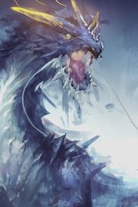 480x854 Dragon 5k Painting
