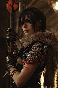1242x2688 Dragon Age II Hawke Cosplay 5k