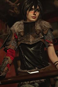 1242x2688 Dragon Age II Hawke Cosplay