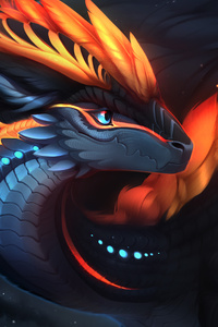 Dragon Art Red 4k