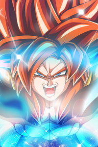 1242x2688 Dragon Ball Super Saiyan 4 Anime 4k