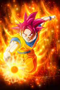 1242x2688 Dragon Ball Super Super Saiyan Goku
