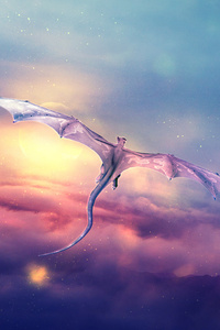 Dragon Flying Over