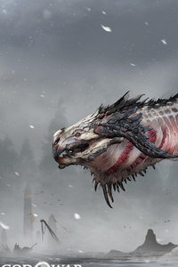 Dragon God Of War Concept Art
