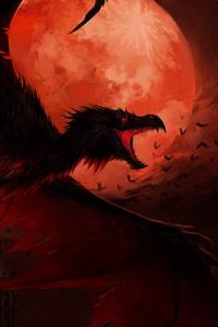 Dragon In Dark Night 4k