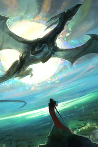 720x1280 Dragon In The Sky