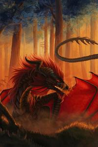 720x1280 Dragon Lava 4k