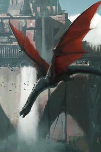 Dragon Taking Down The Wall