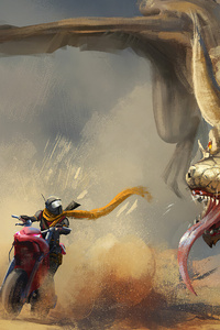 Dragon Vs Biker 4k