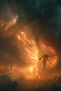 480x854 Dragons Among The Stars 5k