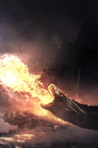 320x480 Dragons Fight Game Of Thrones Season 8
