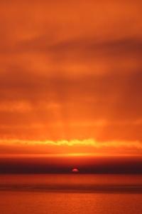 Dramtic Orange Sky Beach Sunset