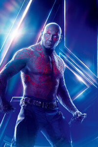 Drax The Destroyer In Avengers Infinity War 8k Poster