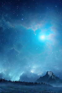 480x854 Dreamscape Blue Morning 4k