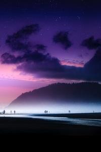 240x320 Dreamy Beach Sky Island Ocean Evening