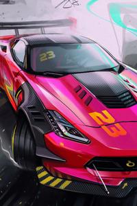 1125x2436 Drifting Car Digital Art 4k