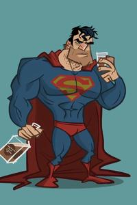 2160x3840 Drunk Superman 4k