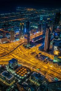 Dubai Building Lights Skycrappers 4k