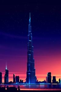 Dubai Burj Khalifa Minimalist