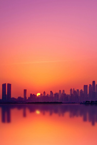 540x960 Dubai City Silhouette 5k