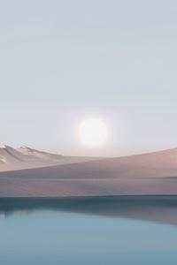 1125x2436 Dunes Minimal Windows 11