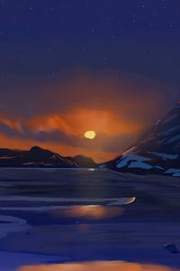 720x1280 Dusky Winter Sunset 4k