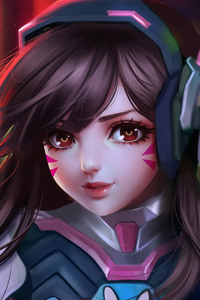 Dva As Kid Overwatch Artwork