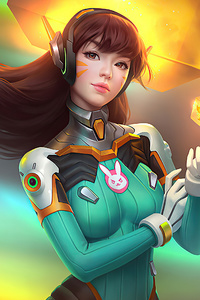 640x1136 Dva Overwatch 4k 2020 Artwork