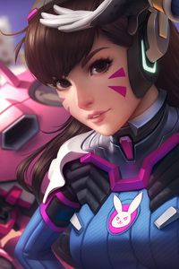 Dva Overwatch Anime Girl 4k Artwork