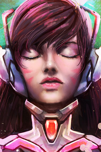 1080x1920 Dva Overwatch Artwork 4k