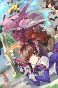 Dva Overwatch Artwork 5k