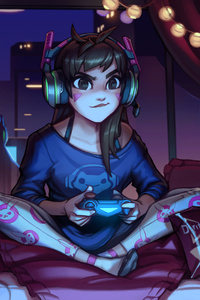 Dva Overwatch Cute Artwork