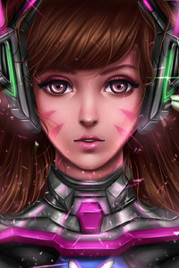 DVa Overwatch Digital Fanart