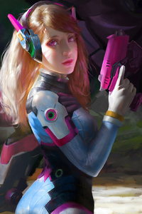 Dva Overwatch Game Art 4k