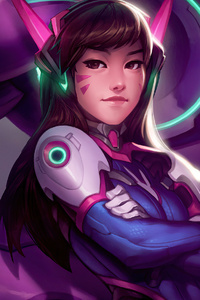 640x1136 Dva Overwatch Game Artwork 4k