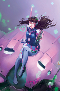 Dva Overwatch Game Artwork