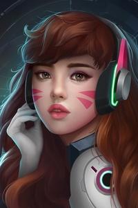 Dva Overwatch Headphones Artwork
