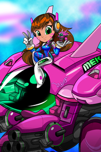 Dva Overwatch Illustration