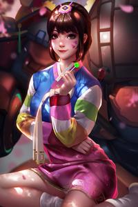 720x1280 Dva Overwatch Liang Xing 4k