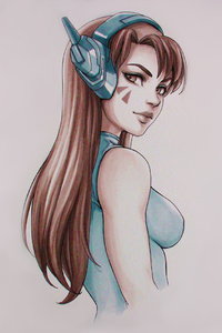 Dva Overwatch Sketch Artwork