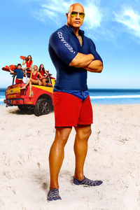 Dwayne Johnson And Zac Efron In Baywatch Movie