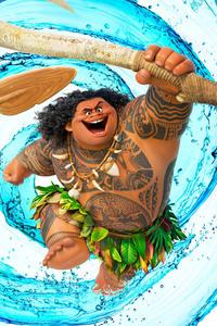 480x854 Dwayne Johnson As Maui Moana
