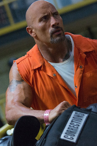 320x480 Dwayne Johnson Fast Furious 8 Bald 5k