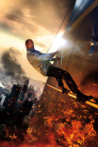 Dwayne Johnson Skyscraper Movie 5k