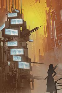 360x640 Dystopian City Concept 5k