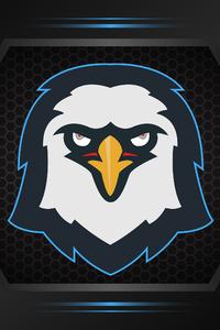 Eagle Minimalism Logo 4k