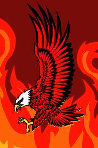 1440x2960 Eagle Of Flames
