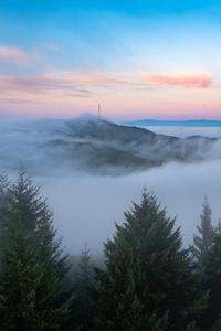 Earth Fog Horizon Nature Sky Hd