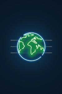 2160x3840 Earth Minimal 5k